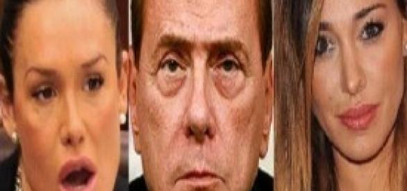 Belen Rodriguez, Silvio Berlusconi, Nicole Minetti
