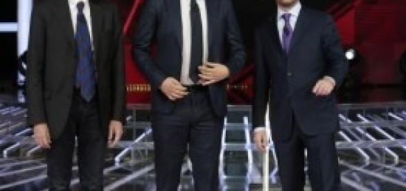 Renzi, Civati e Cuperlo su Sky