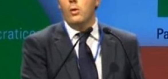 Matteo Renzi all'assemblea Pd