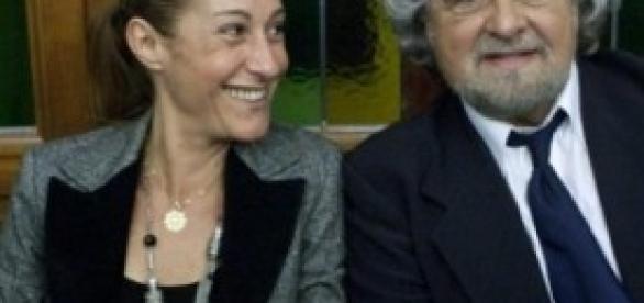 Beppe Grillo e Paola Taverna