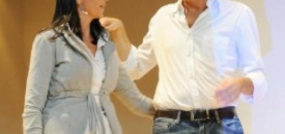 Matteo Renzi e la senatrice Nadia Ginetti (Pd)