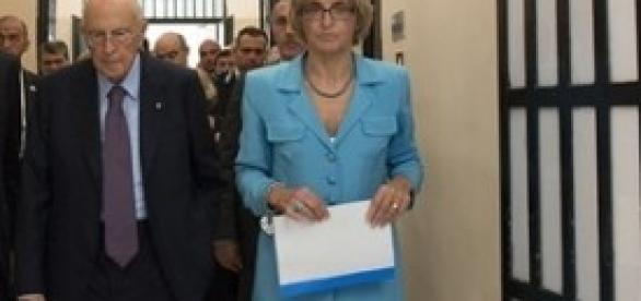 Napolitano in visita a Poggioreale
