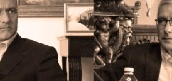 I candidati Ugo Cappellacci e Francesco Pigliaru