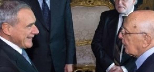 Napolitano, Grasso, Boldrini, Letta, Silvestri