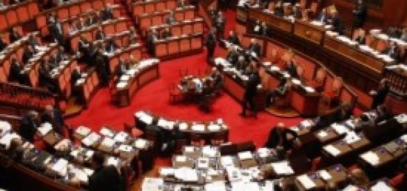Dettaglio dell'aula della Camera