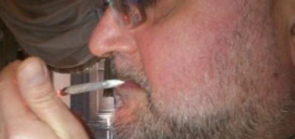 Farina di SEL fuma uno spinello.