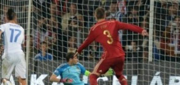 Casillas, ante el primer gol. Foto: La Vanguardia