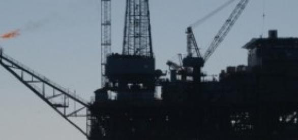 Plataforma petrolera marina