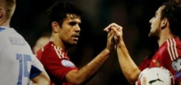 Diego Costa y Paco Alcácer contra Eslovaquia