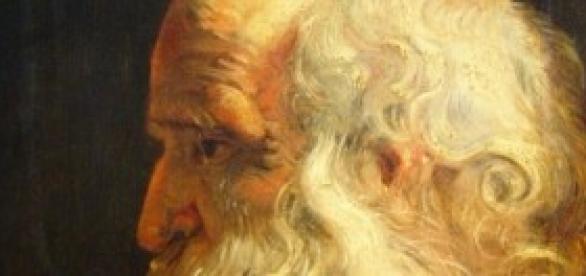 Anciano, en un retrato de Rubens