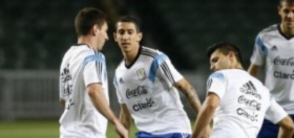 Los argentinos en el entrenamiento previo