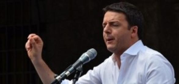 Matteo Renzi all'assemblea di Confindustria