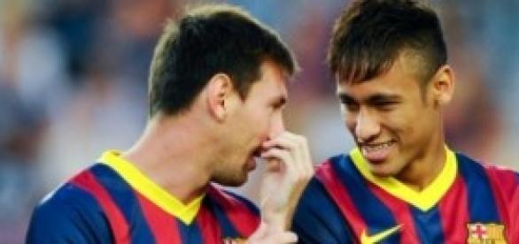Messi y Neymar con el FC Barcelona