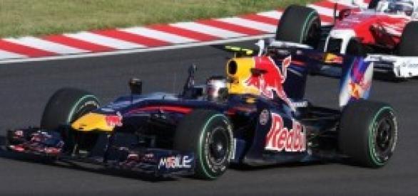 Sebastian Vettel en su Red Bull.