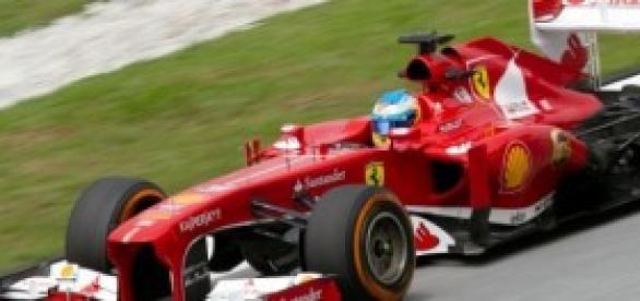 Fernando Alonso con su Ferrari.