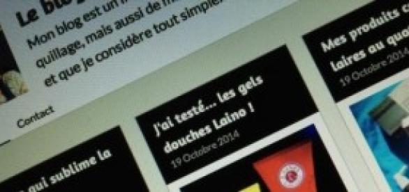 Capture d'écran tirée de mon propre blog