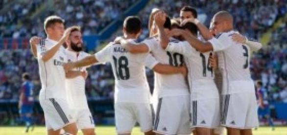 El Madrid celebra un gol. Foto: Real Madrid