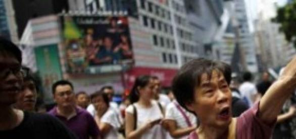 Manifestante ad Hong Kong