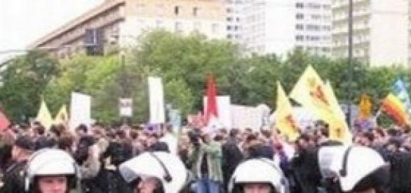 Proteste ad Hong Kong contro il governo cinese.