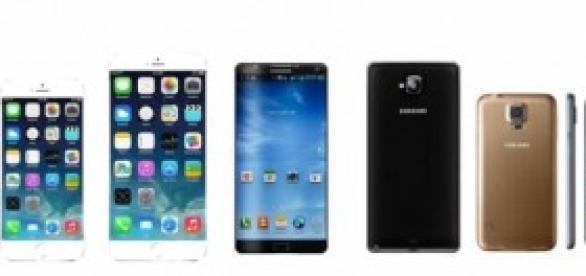Iphone 6 y Samsung Galaxy.
