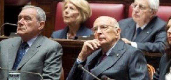 Napolitano, Grasso e Boldrini al Senato