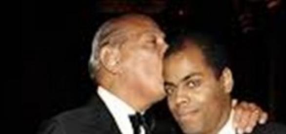 Oscar de la Renta y su hijo Moises