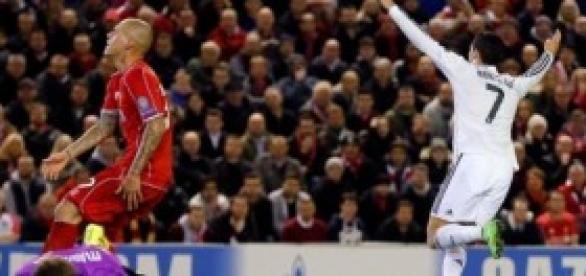 Cristiano celebra su gol de anoche