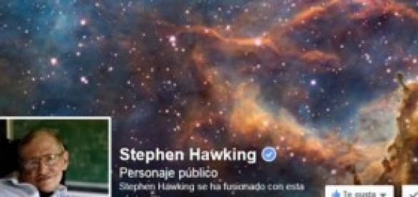 Pagina de Facebook de Stephen Hawking