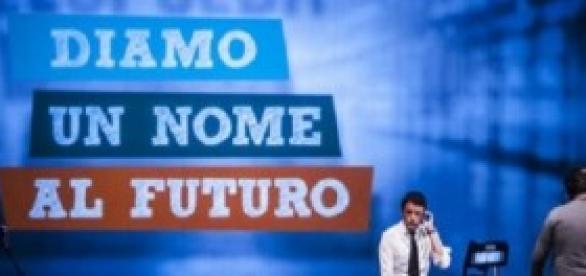 Il premier Renzi alla Leopolda