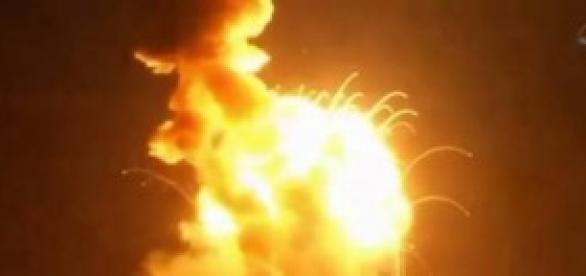Explosão do foguete (Foto: NASA TV/Divulgação)
