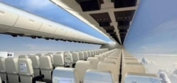 Imagen de un avión sin ventanas