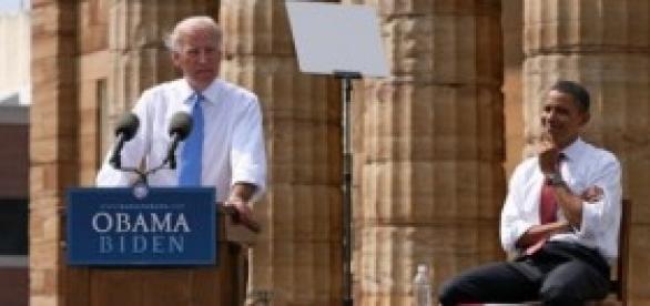 Barack Obama junto a Joe Biden.
