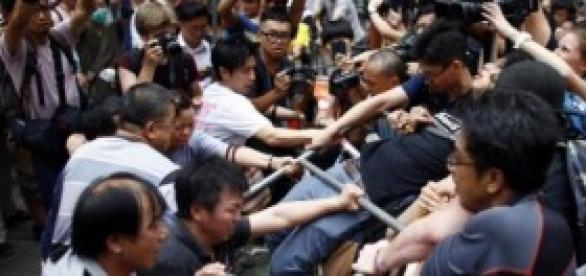 Hong Kong : les affrontements