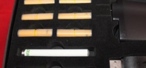 Un kit de cigarrillos electrónicos