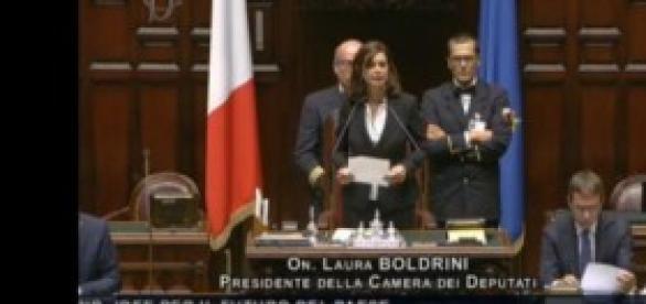 Laura Boldrini Presidente Camera dei Deputati