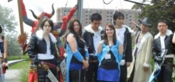 "Cosplay de ""Final Fantasy VIII""."