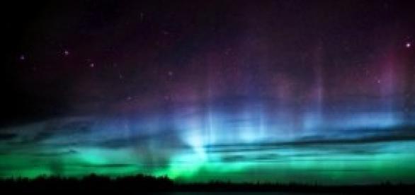 Manifestation d'une aurore boréale