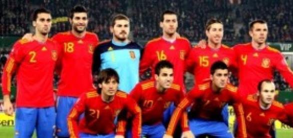 Selección Española con jugadores memorables