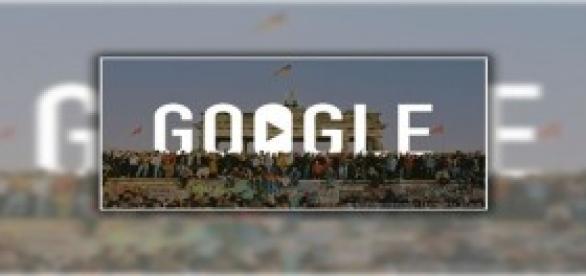 Google Doodle emotivo recuerdo del Muro de Berlin