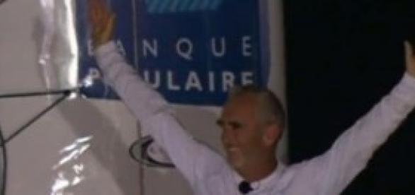 Loick Peyron, vainqueur de la Route du Rhum 2014