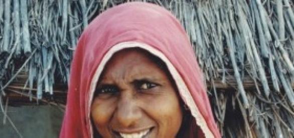 femme indienne de classe pauvre