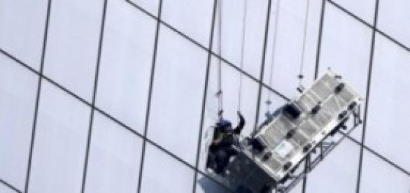 Limpiavidrios rescatados de la WTC por bomberos.