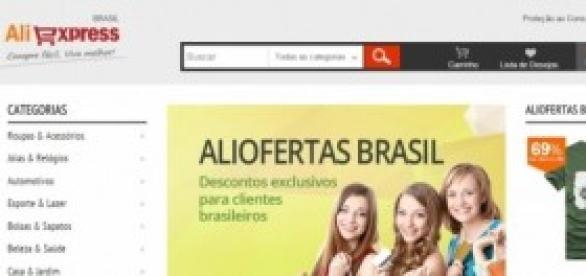 Site Aliexpress na versão em português