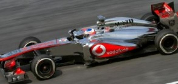El McLaren de Jenson Button.