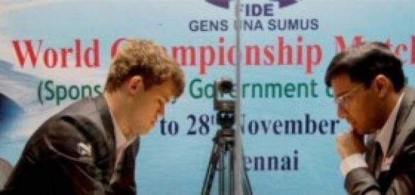Partida entre Anand y Carlsen