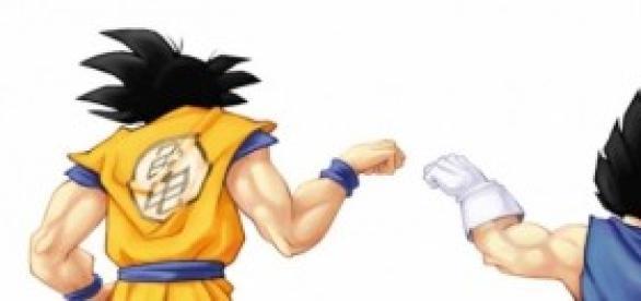 Goku y Vegeta unidos por el universo