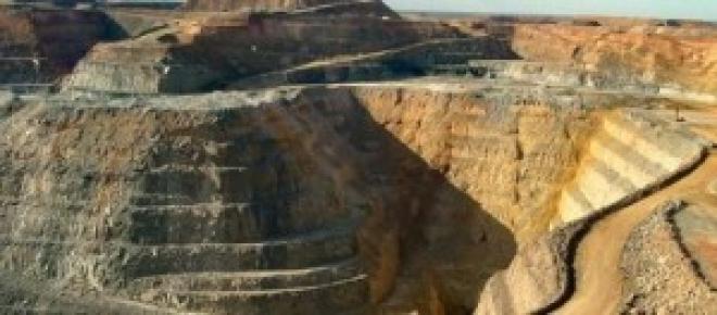 Explotación minera de oro.