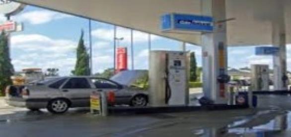 Posto de combustível GNV.
