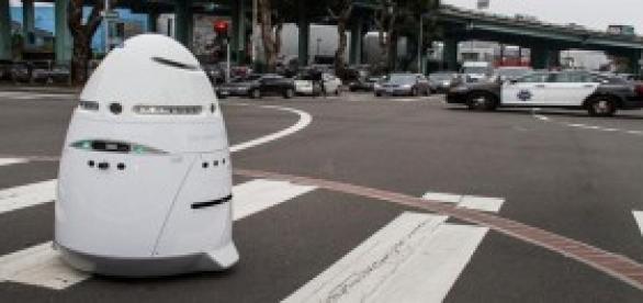 El K5 de Knight Scope el robot policia