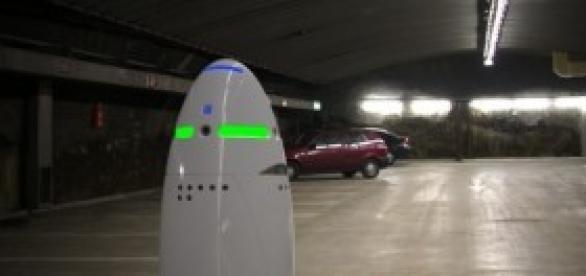 K5 el robot de seguridad diseñado por Knight Scope